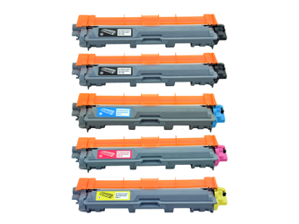 Zestaw 5x toner do  Brother TN241 TN245 CMYK + K zamienniki
