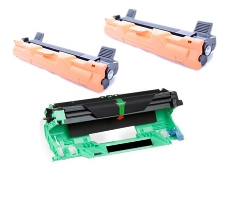 Zestaw 2x Toner do Brother TN1030/1050 + Bęben DR1030/1050