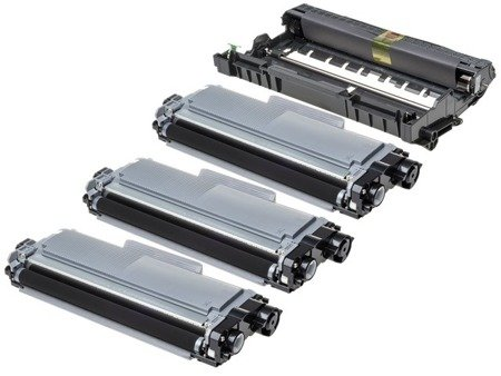 Zestaw 3x Toner do Brother TN2320 + Bęben DR2300 Zamienniki 001